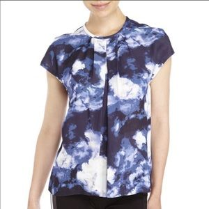 Kate Spade | Dusk Clouds Crepe Top Size 0 NWT